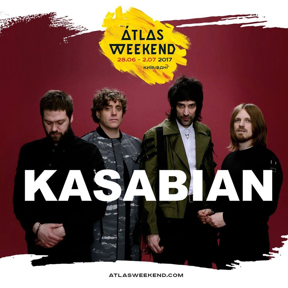 Kasabian выступят на Atlas Weekend 2017 в Киеве!