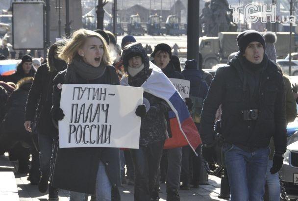 У Росії в 30-градусний мороз люди страйкують проти виборів Путіна
