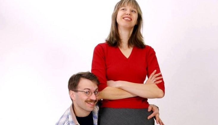 Фото дня: сімейна пара киян побила рекорд по різниці у зрості