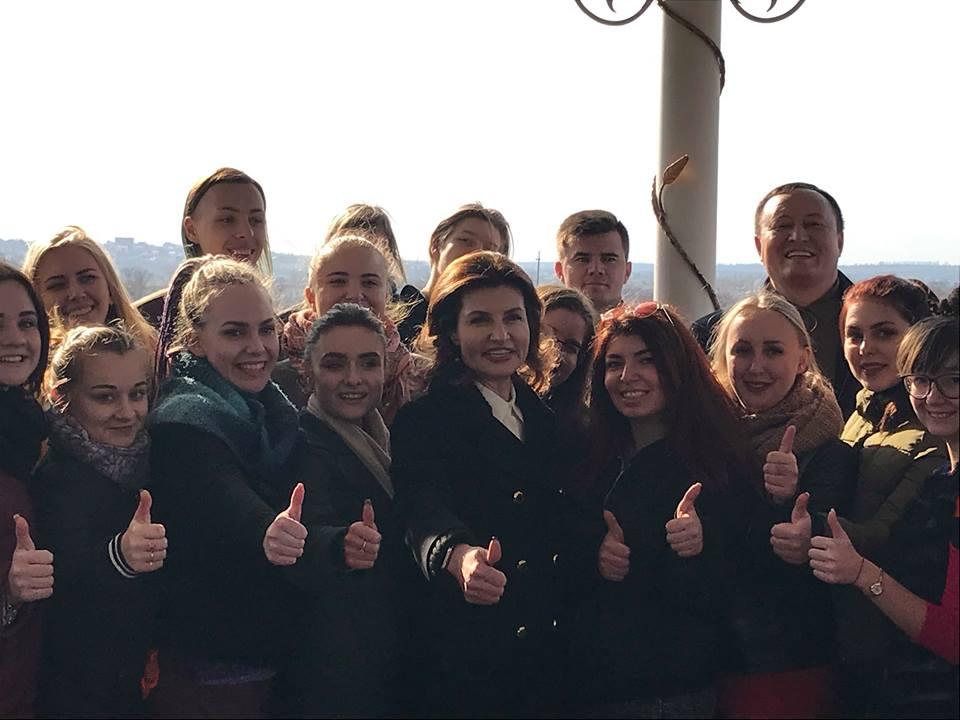 Марина Порошенко з робочим візитом відвідала Запоріжжя (ФОТО)