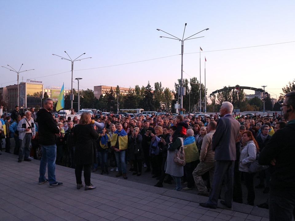 <strong>Запоріжці зібралися на Майдані та висунули вимоги владі</strong>