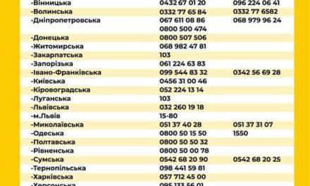 МОЗ оприлюднило номери телефонів бригад, які мусять приїхати до пацієнта з підозрою на COVID-19