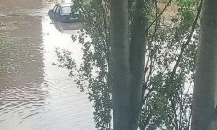 Внаслідок негоди на Запоріжжі автомобілі та підвали затопило водою й засипало градом – фото