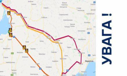 Патрульні Запоріжжя запропонували об'їзну дорогу, щоб уникнути заторів – карта