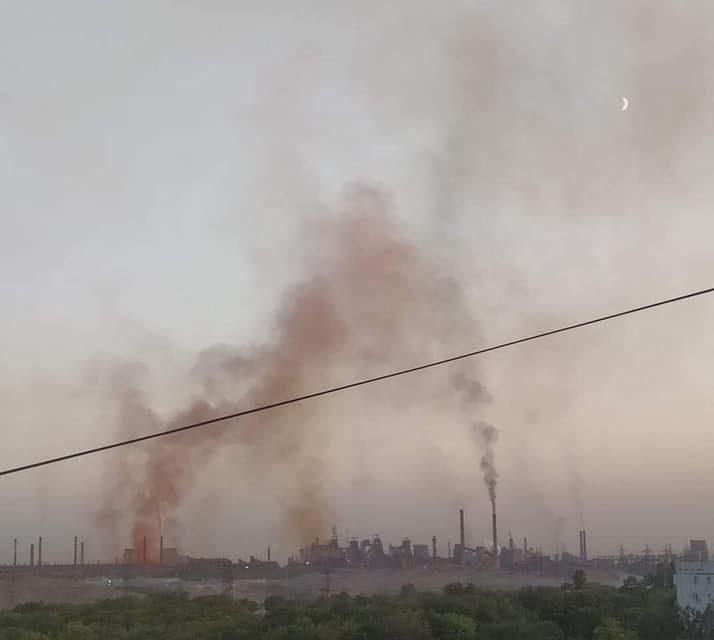Фото дня: мешканці Запоріжжя продовжують фіксувати газову камеру