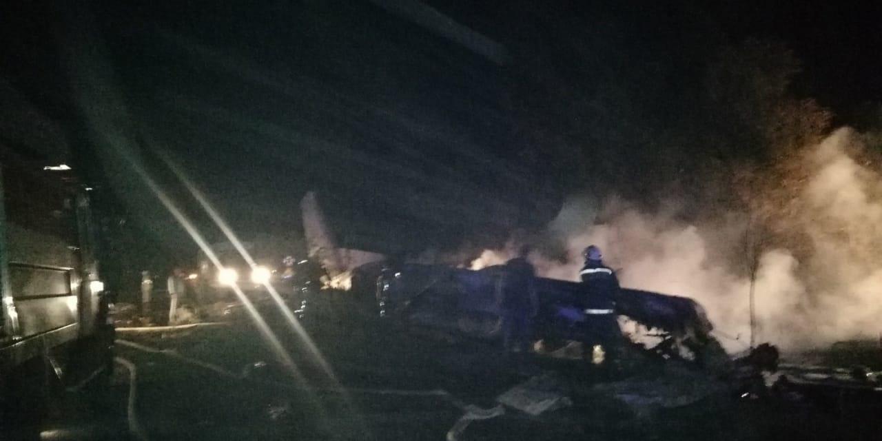 З'явилися фото з місця падіння літака, поліція розказала деякі обставини