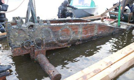 На дні річки Дніпро на Запоріжжі знайшли старовинний артилерійський лафет