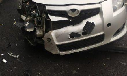 У Запорізькій області сталася ДТП, бампер одного з авто під час удару розтрощило вщент – фото