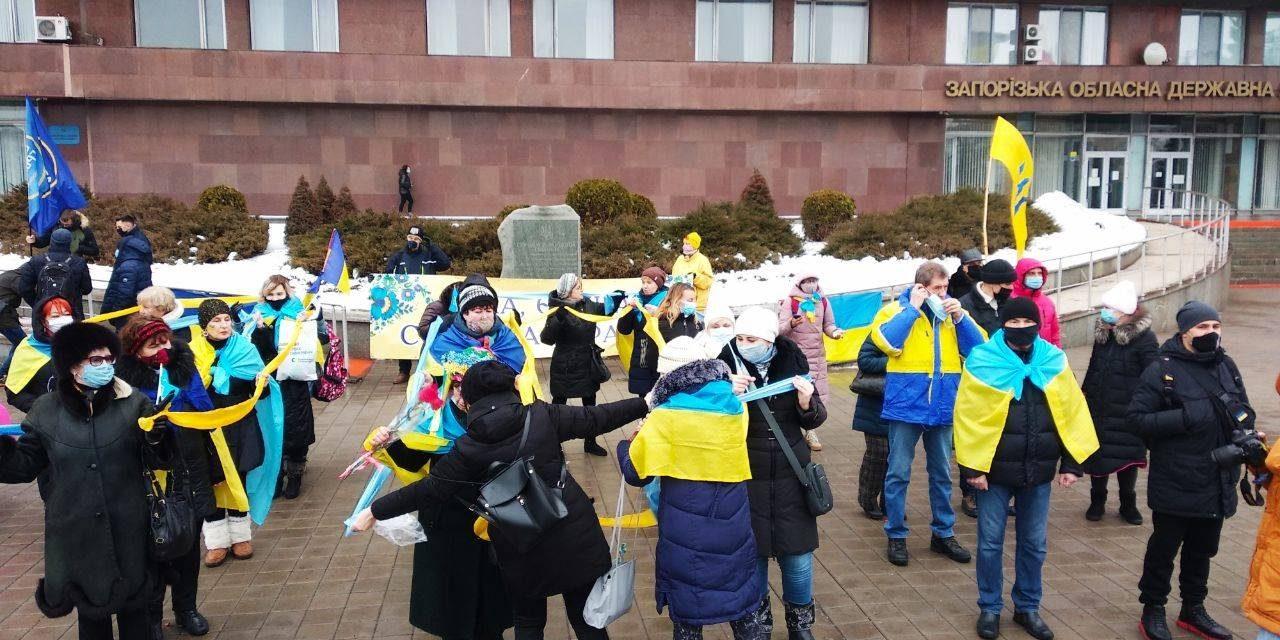 У Запоріжжі розпочали флешмоб до Дня Соборності України – фото