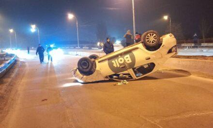 Таксист, що вчора перекинувся в авто в Запоріжжі був під наркотиками