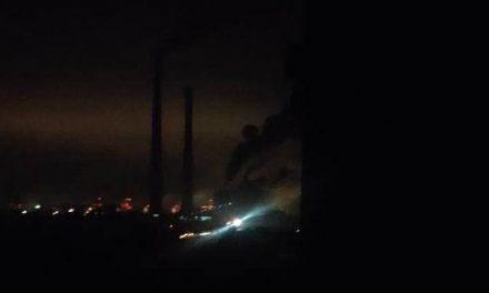 На тепловій станції в Енергодарі бачили пожежу та вибух
