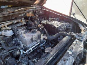 Андрій Согорін згорів автомобіль