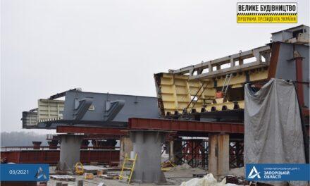 В Укравтодорі повідомили про стан будівництва мостів через річку Дніпро в Запоріжжі
