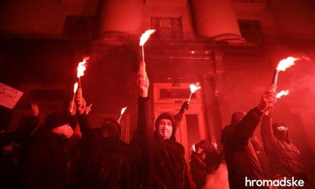 У столиці правоохоронці затримали одного з учасників акції протесту в підтримку Стерненка – фото