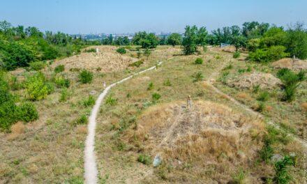 У Запоріжжі навколо Кургану орють поля – фото