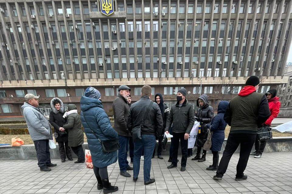 В центрі Запоріжжя мітингували представники ринку – фото