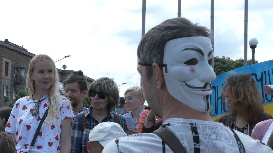 У Запоріжжі провели акцію проти масок, карантину та вакцинації