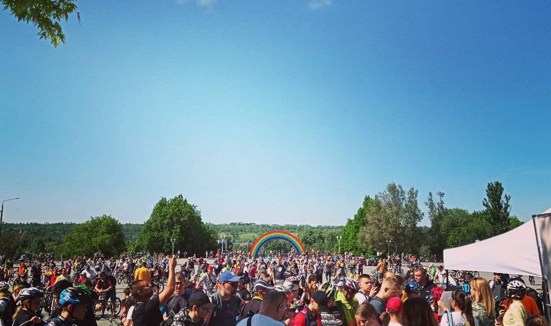 У Запоріжжі показали відео велопробігу з висоти