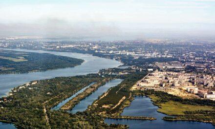 Дніпро, його канали та переїзди в Запоріжжі показали з висоти – фото