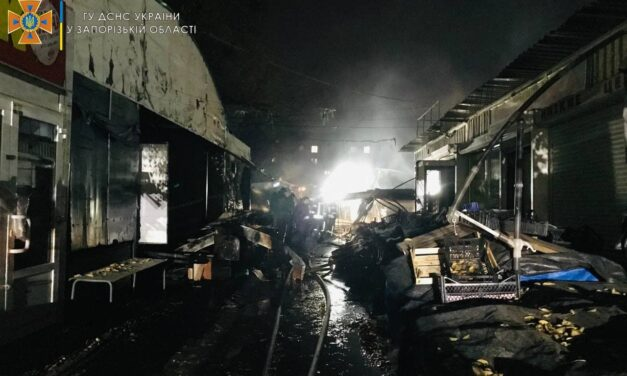У Запоріжжі близько 30 пожежників гасили 12 кіосків – фото, відео